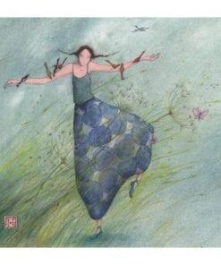 Carte Gaëlle Boissonnard 2019 - Danse avec le vent - 14x16 cm