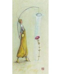 Carte Gaëlle Boissonnard 2019 - Fleur sous la douche - 10.5x21 cm