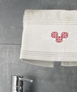 Serviette de toilette Cosy Naturel 50 x 90 Les Ateliers du Linge