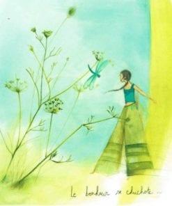 Carte Anne-Sophie Rutsaert - Le bonheur se chuchotte... - 14x14 cm