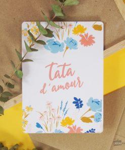 Carte idéale pour écrire un message d'amour à votre tante adorée. Enveloppe en kraft incluse.