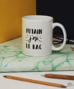 Cette tasse en céramique de 300 ml sera idéale pour faire plaisir à un(e) jeune bachelier(e) !