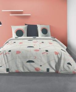 Parure de lit 2 personnes Hawa avec housse de couette et taies d'oreiller Imprimé 260 X 240 Les Ateliers du Linge